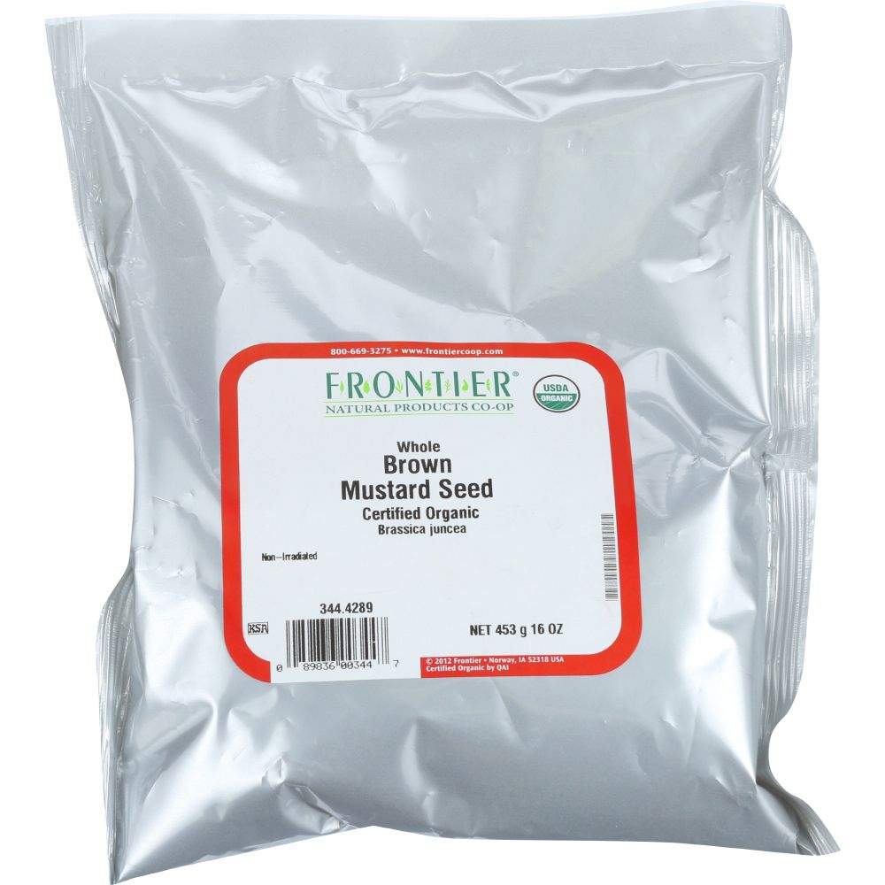 Frontier Bulk Mustard Seed Brown Whole, Certified Organic, 1 Lb. Package