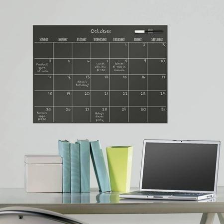Black Dry Erase Calendar Wall Decal Sticker - - Black Dry Erase Calendar