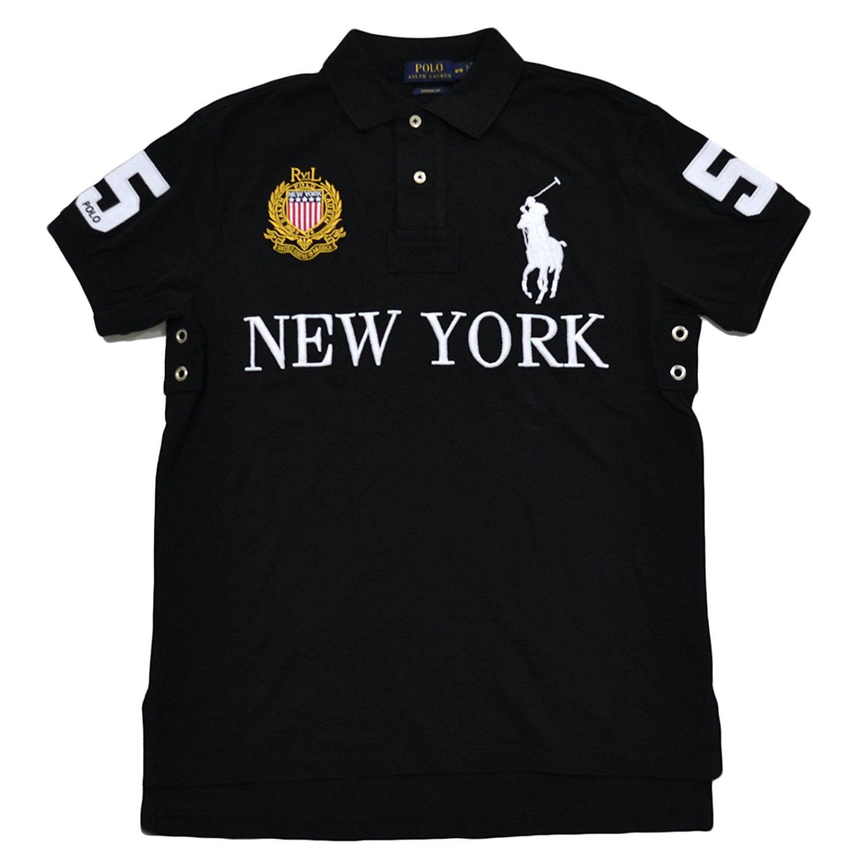*NEW POLO Ralph Lauren Men/'s Big Pony Custom Fit Polo Shirt WHITE /& BLACK