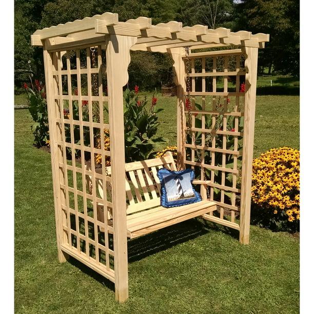 Oak Arbor Court: A & L Furniture Lexington 7.5 Ft. High Wood Arbor With