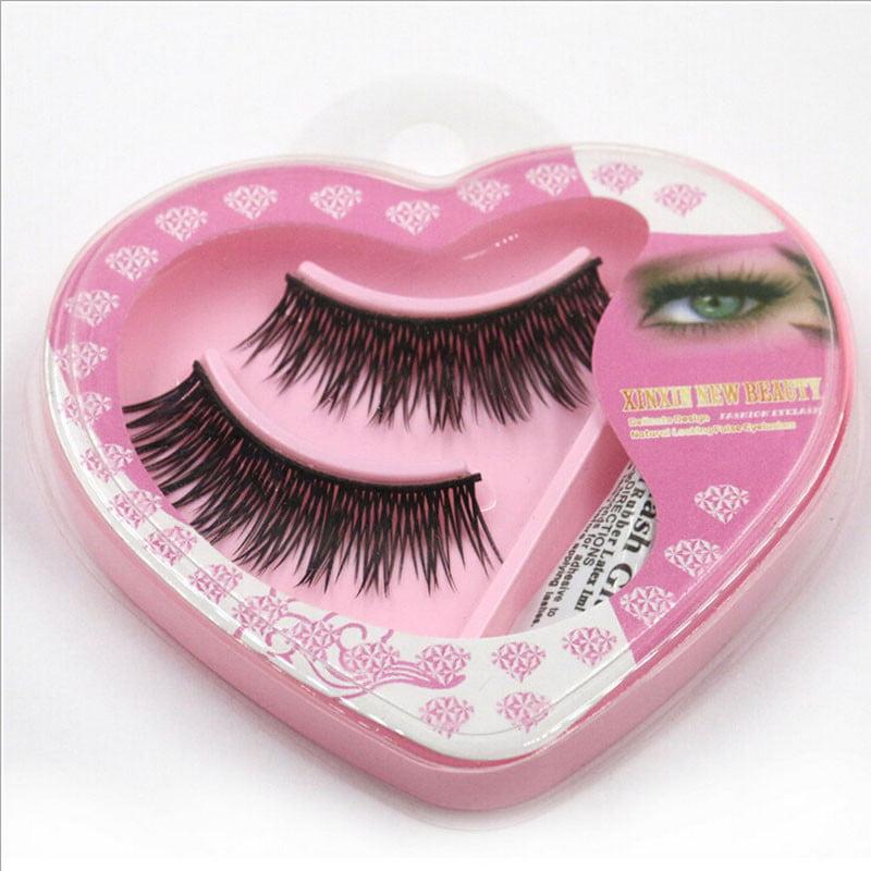 Outtop 1 pair Natural Long Thick False Eyelashes Charming Eyelashes Makeup