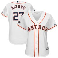 Jose Altuve Houston Astros Majestic Women's 2019 Postseason Official Cool Base Player Jersey - White
