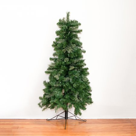 Home Heritage 7 Ft Pre-Lit Artificial Half Christmas Tree with Folding Stand  - image 6 of 7