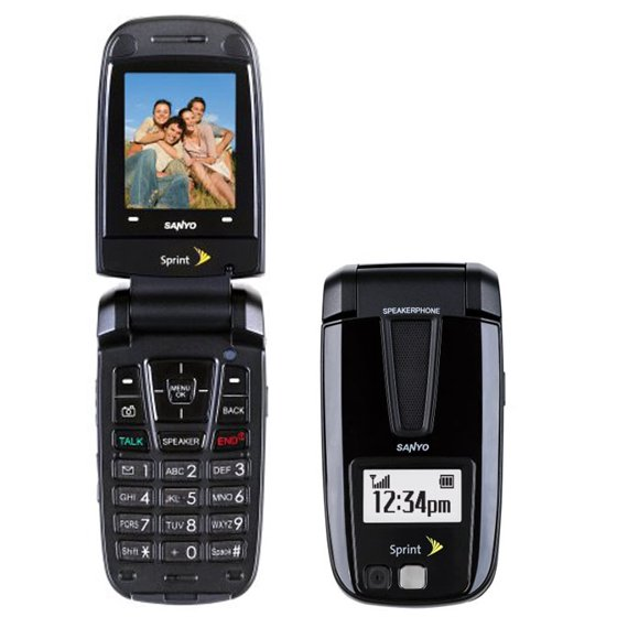 1 Year Prepaid Cell Phone Service Sanyo Flip Phone With $100 Airtime  Minutes Included