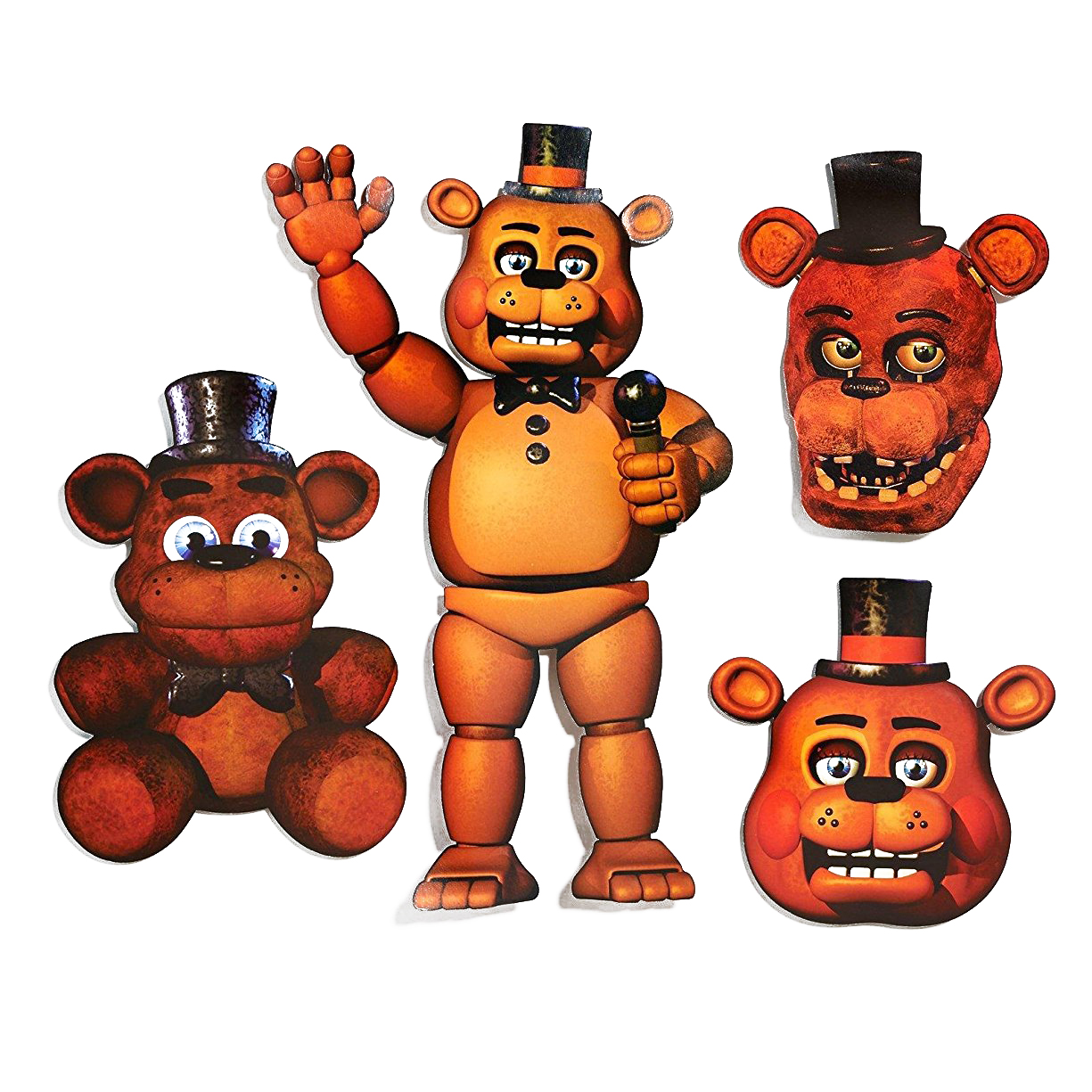 Five Nights at Freddy's Freddy Cutouts, 4pk