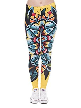 d209165832996 Product Image Pop Fashion Women Stretch Nature Printed Leggings Footless  Tights Ankle Pants (Amazon Flower Print)