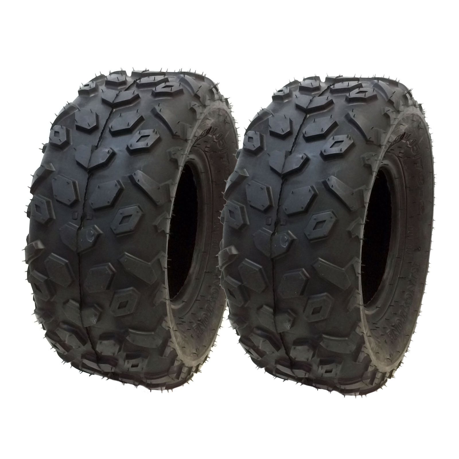 "SET OF TWO: ATV Tubeless Tires 145x70-6 (14.5x7x6) P120 - Front or Rear - for RED CAT, SUNL, SUZUKI, VENTO, Small ATV w 6"" Rims"