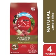 Purina ONE Natural Dry Dog Food, SmartBlend Lamb & Rice Formula, 4 lb. Bag