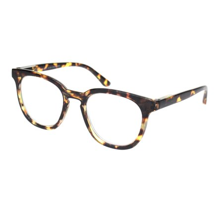 Retro Hipster Plastic Horned Rim Mod Fashion Reading Glasses Tortoise (Huge Hipster Glasses)