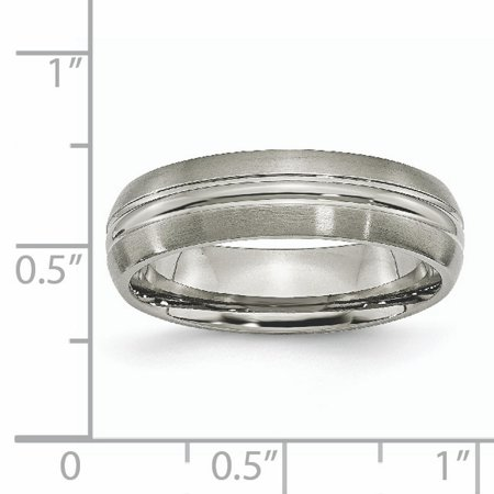 Titanium Grooved 6mm Brushed Wedding Ring Band Size 9.50 Fashion Jewelry Gifts For Women For Her - image 2 of 10