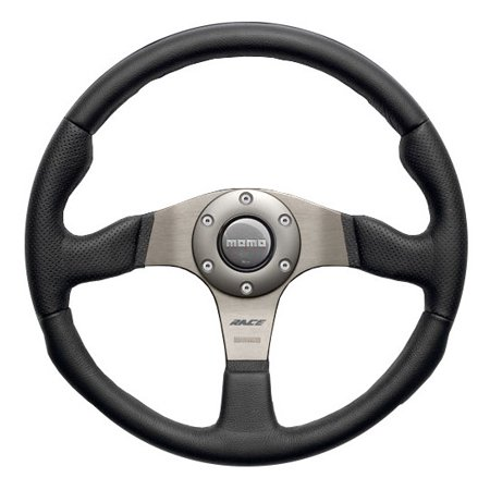 MOMO Steering Wheel Race - Black Leather - 350 mm