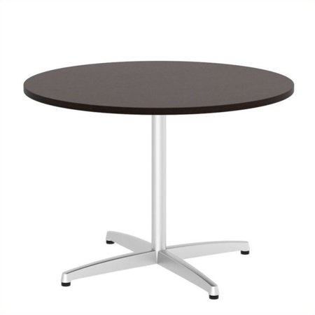 Scranton & Co 42W Round Conference Table in Metal X Base