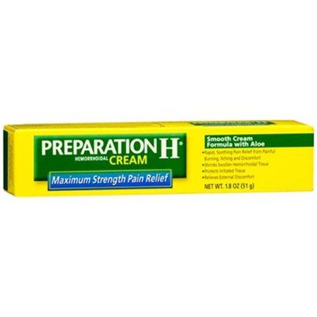 Preparation H Force maximale hémorroïdaire Crème 1,8 oz (Pack de 3)
