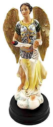 """Archangel Gabriel God Messenger 5"""" Inch Holy Religious Figurine Altar Sculpture by Gifts & Decor"""