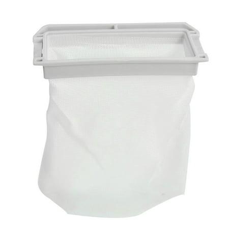 Unique Bargains Washing Machine Washer Nylon Mesh Filter Bag Replacement White