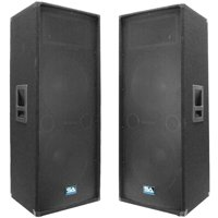 "Seismic Audio Pair Dual 15"" PA Band DJ PRO Audio Speakers 1400 Watts - SA-155T"