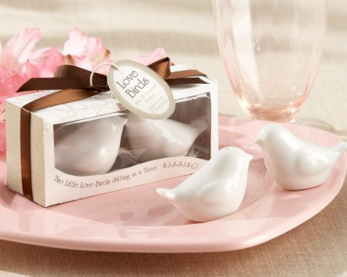 """Love Birds in The Window"" Salt and Pepper Shaker [Set of 96] by The Aspen Brands Company."
