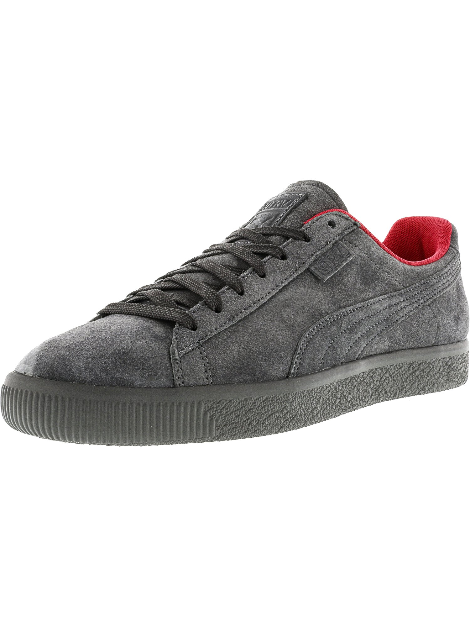 Puma Men's X Staple Clyde Black   Glacier Gray Ankle-High Suede Fashion Sneaker 10.5M by Puma
