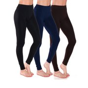 Essential Basic Women Full Ankle Length Seamless Leggings Ankle Length - Jr - Plus Sizes