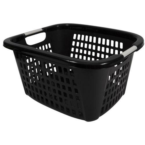 Home Logic 1.5 Bushel Laundry Basket, Black