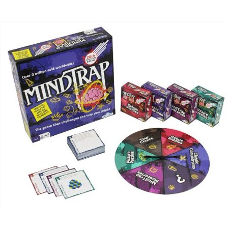 Mind Trap Brain Teaser Board Game - MindTrap 20th Anniversary Edition: The Game That Challenges the Way You Think (Over 3 Million Copies - Mind Teaser Games
