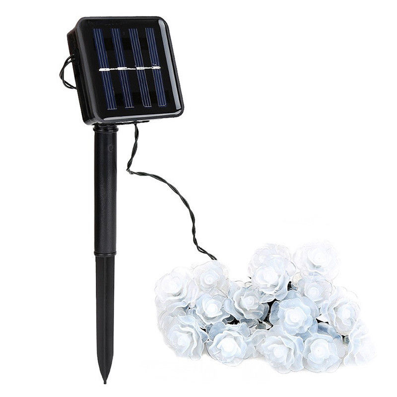 6m Solar Powered String Light Rose Style 30 LEDs String Outdoor Party Christmas