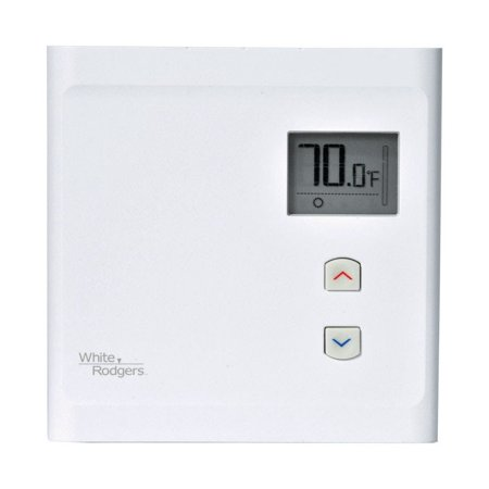White Rodgers Burners - White Rodgers Thermostat Programmable, Touch Screen Heat & Cool 120 V 12.5 A 1 Pole White Ul