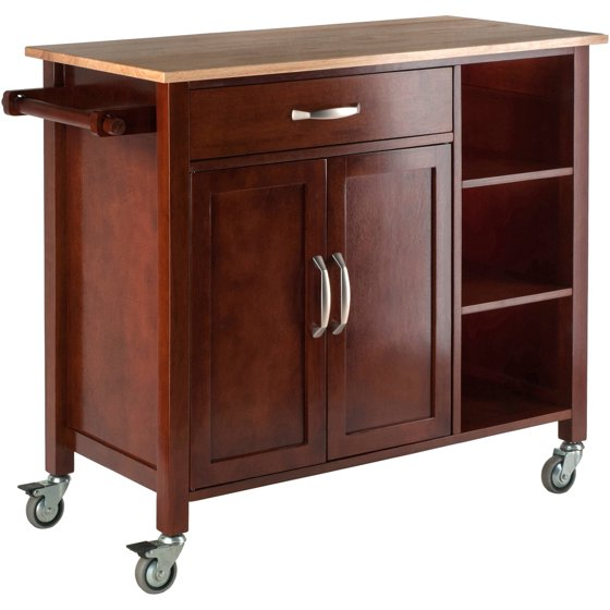 Wal Mart Kitchen: Winsome Mabel Two-Tone Kitchen Cart