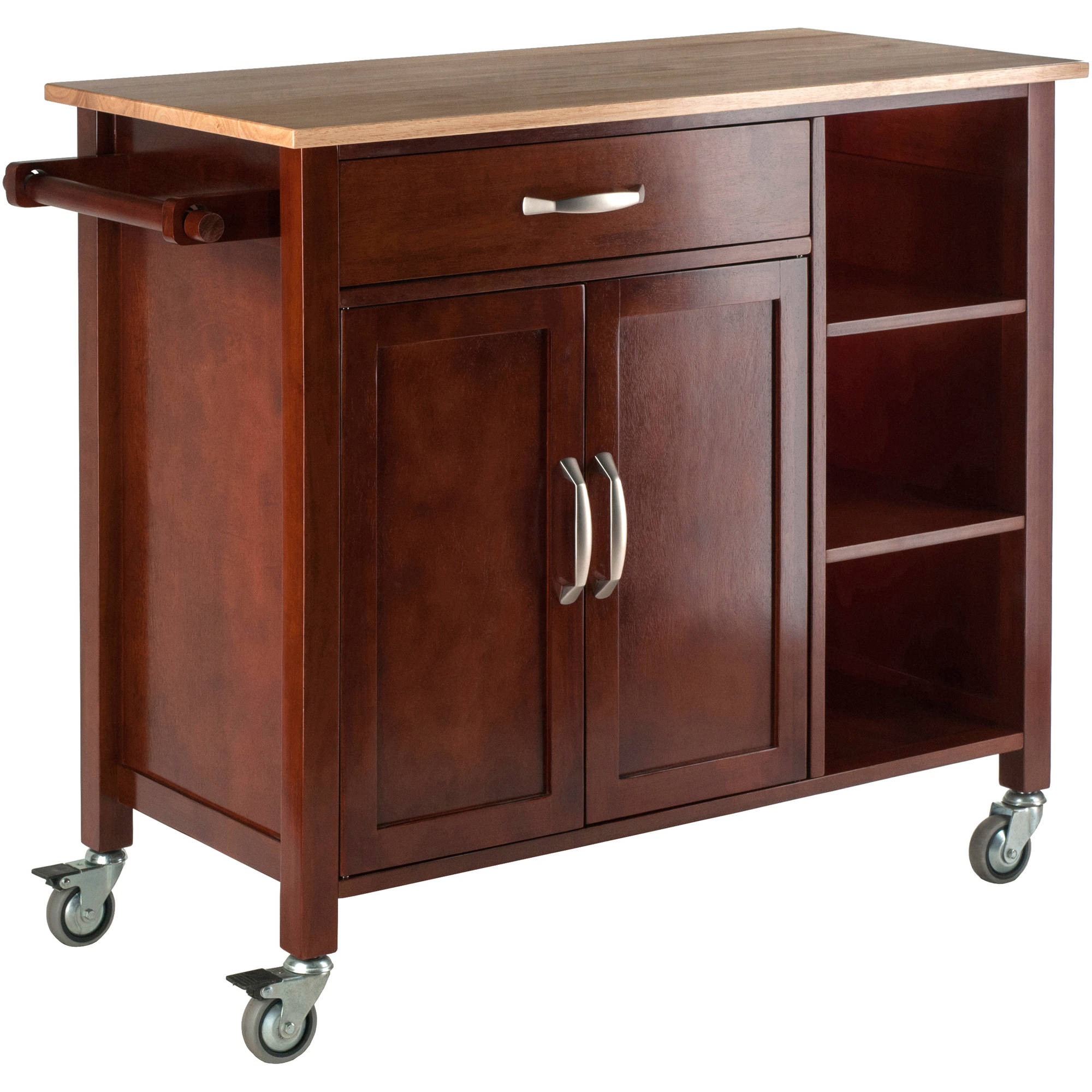 Winsome Mabel Two-Tone Kitchen Cart