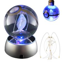 Coolinko 3D Crystal Ball LED Night Light with LED Keychain Laser Engraving (Pheromosa)