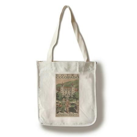 Glenwood Springs, Colorado - Hotel Colorado - Vintage Travel Advertisement (100% Cotton Tote Bag - Reusable)
