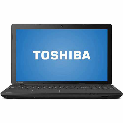 "Toshiba Satin Black 15.6"" Satellite C55D Laptop PC with AMD A4-5000 Quad-Core Processor, 4GB Memory, 500GB Hard Drive and Windows 8.1"