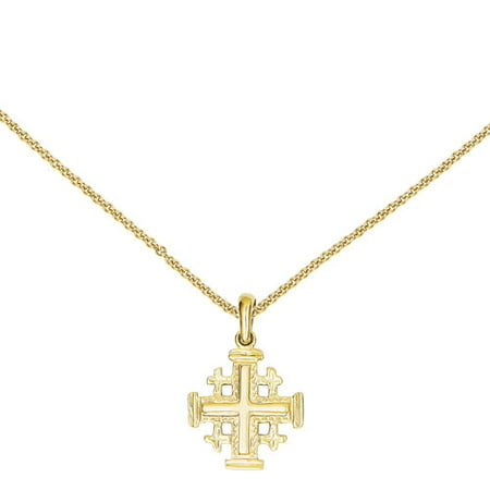 14kt yellow gold jerusalem cross pendant walmart 14kt yellow gold jerusalem cross pendant aloadofball Images