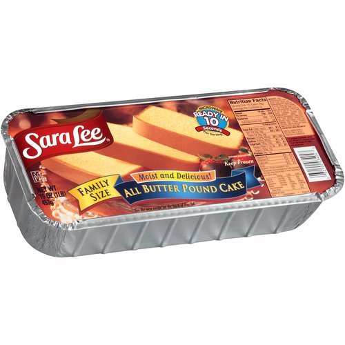 Sara Lee All Butter Pound Cake Family Size, 16 oz
