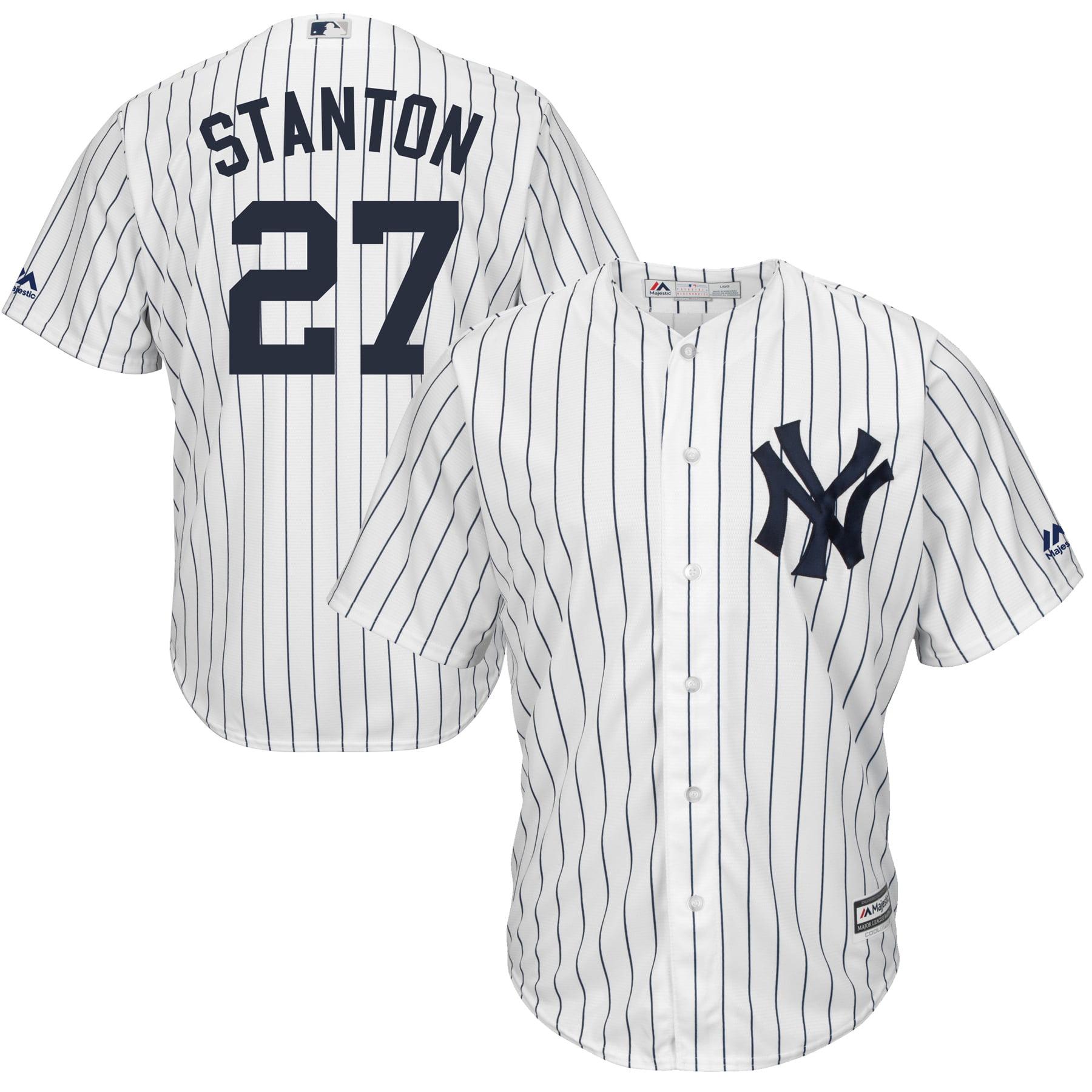 Giancarlo Stanton New York Yankees Majestic Cool Base Replica Player Jersey - White