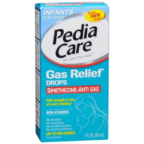 PediaCare Infants' Non-Staining Gas Relief Drops, Berry Flavor 1 oz (Pack of 2)