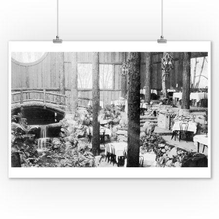 Brookdale, CA Brookdale Lodge Dining Room Photograph (9x12 Art Print, Wall Decor Travel Poster) Dining Decor Art Print
