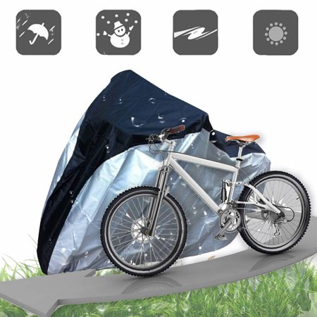- Bike/Bicycle Cover Rain/Sun Protector,IClover Outdoor Waterproof Bicycle Covers 74''x38.6''x25.6'' Rainproof Sun-proof Dustproof with Buckle 190T Nylon UV Resistant Silver & Black