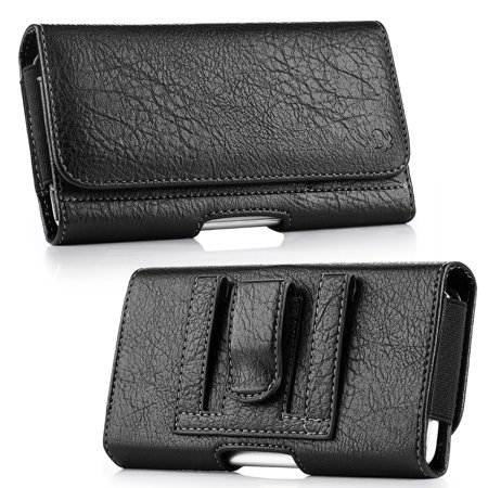 Insten Horizontal Leather Pouch Flip Belt Clip Wallet Case Cover For HTC One M7, Samsung Galaxy S6 / S7 -