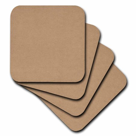 3dRose Natural Cardboard Texture, Soft Coasters, set of 8 by