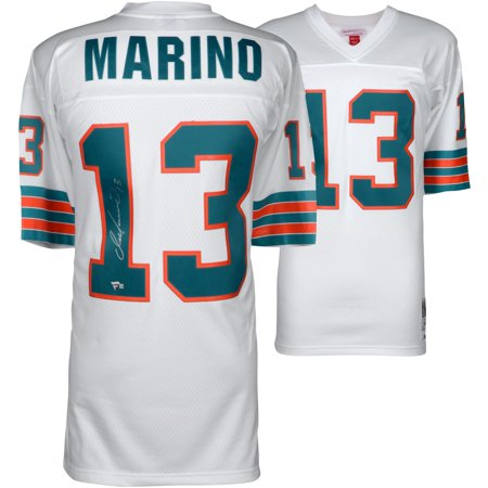 Dan Marino Miami Dolphins Autographed White Replica Mitchell & Ness Jersey - Fanatics Authentic Certified 13 Dan Marino Jersey