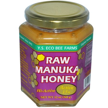 YS Organic - RAW MANUKA HONEY - ACTIVE 15 + 12 OZ (Ys Eco Bee Farms Organic Raw Honey)