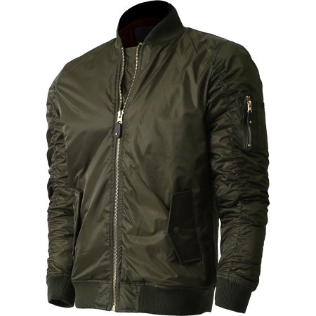 Mens MA-1 Bomber Lightweight Padded Jacket Outerwear