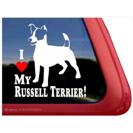 I Love My Russell Terrier | High Quality Vinyl JRT Dog Window - Rydell High
