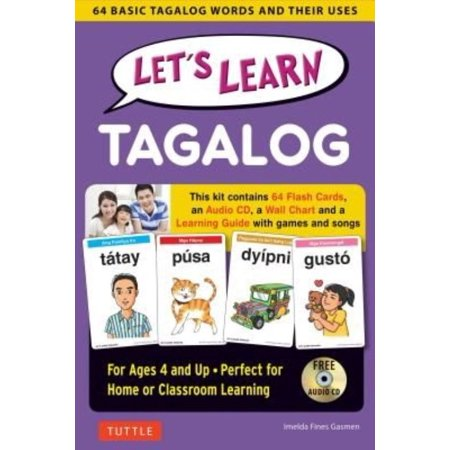Let's Learn Tagalog Kit 64 Basic Tagalog Words and Their Uses (Flashcards, Audio CD, Games & Songs, Learning Guide and Wall Chart) By Imelda Fines Gasmen - image 1 de 1