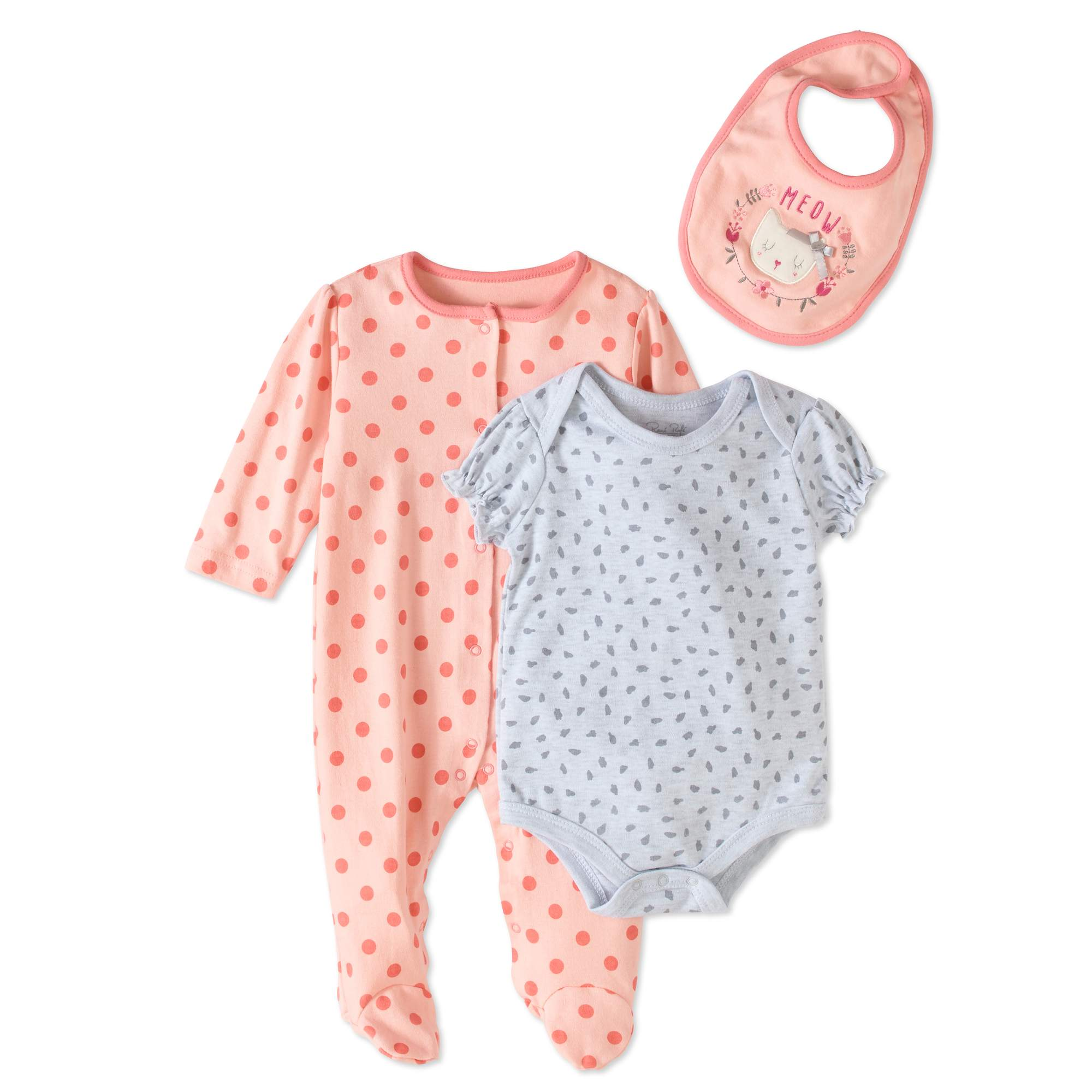 Rene Rofe Newborn Baby Girl Take-Me-Home, 3pc Set