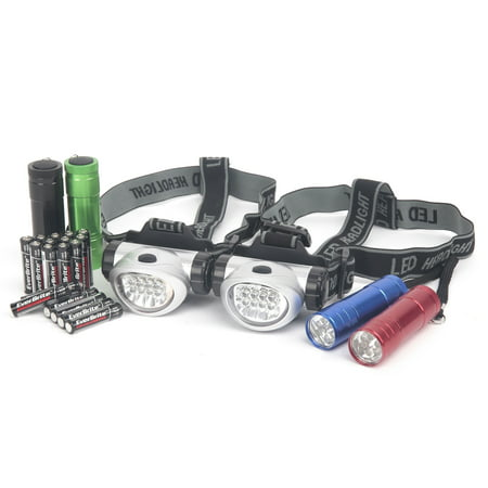 - Ozark Trail® Outdoor Equipment LED Flashlights & Headlamps Combo with Batteries Variety Pack 6 pc Carded Pack