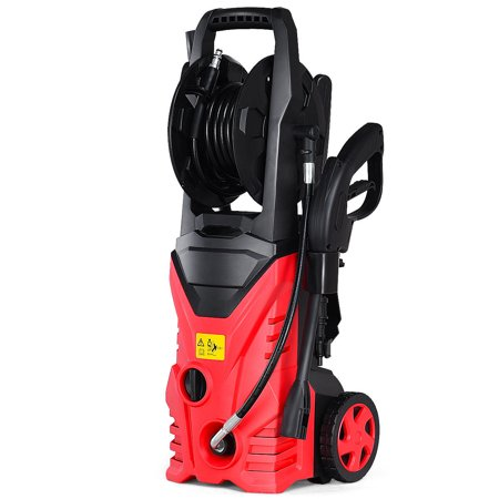 Costway 2030psi Electric Pressure Washer Cleaner 1 7 Gpm 1800w With Hose Reel Red