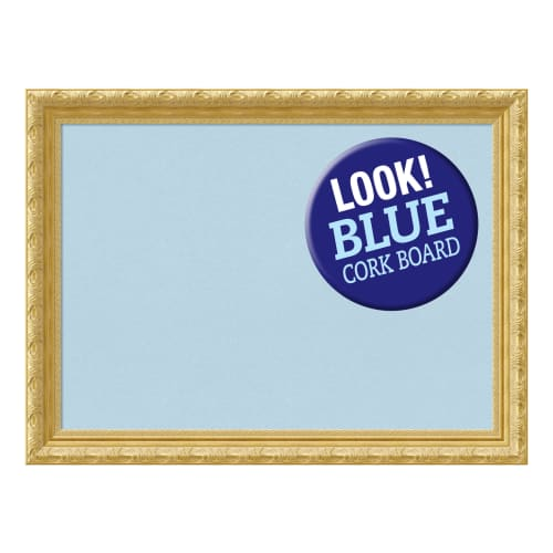 Amanti Art DSWVERCB3224 Versailles 32 Inch x 24 Inch Framed White Cork Board