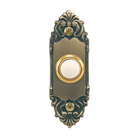 HEATHCO LLC Wired Push Button, Antique Brass SL-925-02